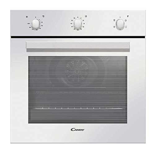 Candy - FCP502W/E - Horno eléctrico, Capacidad 65 L, Puerta desmontable de doble cristal, Cuba para limpieza con agua, Bandeja, Blanco, Clase A