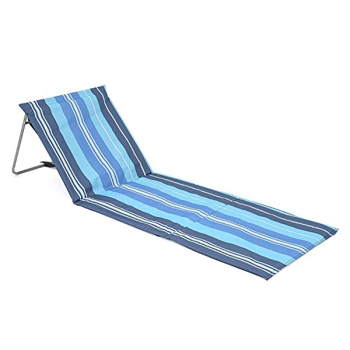 trail outdoor leisure Folding Sun Lounger Beach Mat, Lightweight Portable, Adjustable Reclining Backrest, Carry Strap, Great For Garden, Camping