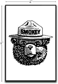 Smokey The Bear Motivational Inspirational Funny Magnet - Refrigerator Toolbox Locker Car Ammo Can