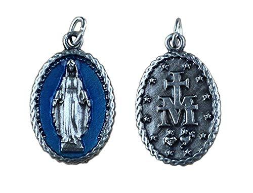 Medalla chapeada plata Virgen Milagrosa - 10 piezas