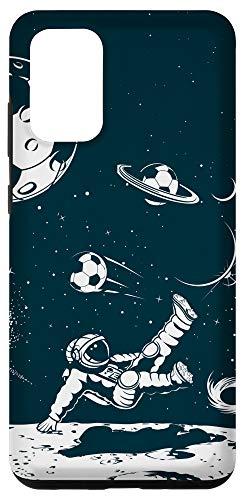 Galaxy S20+ Soccer Phone Case Soccer Lover Space Astronaut Football Case