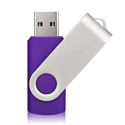 KOOTION 8GB USB-Sticks 5 Stück Speichersticks 8G USB 2.0 Bunt 5 STK Memory Stick Metall 5er Pack Flash-Laufwerke USB Flash Drives Silikon Datenspeicher Stick Mehrfarbig(Schwarz,Weiß,Rot,Gelb,Lila)