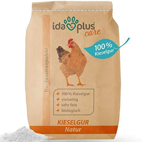 Ida Plus – Kieselgur Natur im Sack – Kieselerde als Pulver – das Produkt für ihren Hühnerstall & Garten – gut für Hühner, Wachteln & anderes Geflügel 12 Liter
