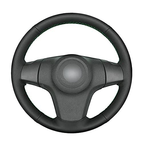 VIdisp Cubierta de Volante de Coche de Cuero Artificial Negro, Apto para Chevrolet Niva 2009-2017 Opel Corsa D de 3 radios 2006-2015 Vauxhall Corsa D