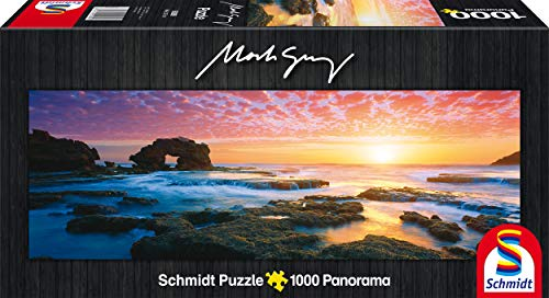 Schmidt Spiele 59289 - Mark Gray, Panoramapuzzle, Bridgewater Bay Sunset, Victoria, Australia, 1000 Teile