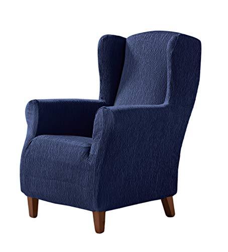 Zebra Textil Elastische Husse für Ohrensessel Beta Größe 1 Sitzer (Standard), Farbe Blau (Mehrere Farben verfügbar)
