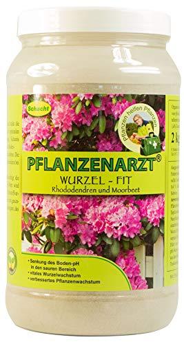 PFLANZENARZT® Wurzel-Fit Rhododendren & Morbeetpflanzen, Organisch-mineralischer NP-Dünger mit Schwefel und Calcium, 2kg