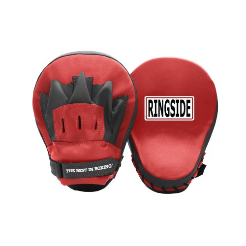 """Ringside Curved Boxing MMA Punch Mitts (Pair) Red, 10.5"""""""