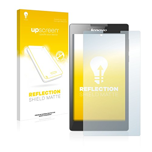 upscreen Entspiegelungs-Schutzfolie kompatibel mit Lenovo Tab 2 A7-30 (Kamera Links) – Anti-Reflex Bildschirmschutz-Folie Matt
