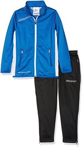 uhlsport Kinder Essential Classic Anzug Trainingsanzug, azurblau/Weiß, 104