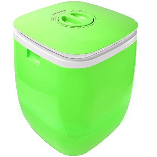 Syntrox Germany Kg WM-150W Waschmaschine mit Schleuder Campingwaschmaschine Mini Waschmaschine (Chef Cleaner WM-150W Green)