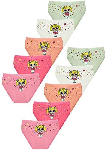 PiriModa 10 Pack Kinder Mädchen Baumwolle Slips (104/110, Modell 18)