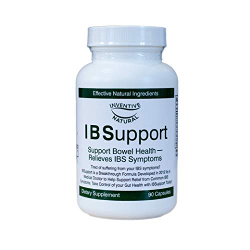 Inventive Natural IBSupport Supplement Breakthrough Formula - Balances Gut Health & Digestion - Combats Gas & Bloating - Helps Support IBS Symptoms - 90 Caps