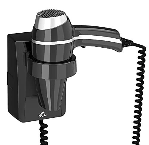 JVD Secador de pelo CLIPPER II negro+ soporte base, 1400 W,activación con un manejo sencillo gracias a su empuñadora patentada LighTouch