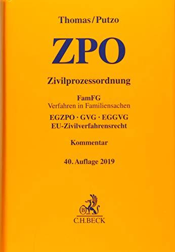 Zivilprozessordnung: FamFG Verfahren in Familiensachen, EGZPO, GVG, EGGVG, EU-Zivilverfahrensrecht, Die Abdeckung kann variieren