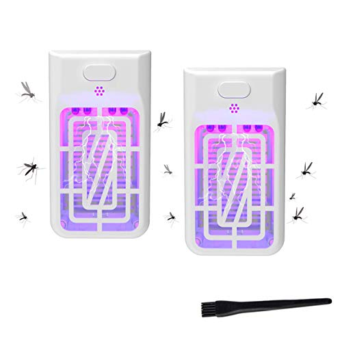 Indoor Plug-in Bug Zapper - Mosquito Trap with UV Light ,Mosquito eradicator- Indoor Mosquito Killer - Electric Insect Repellent - Gnat Trap for Mosquitoes Fruit Flies and Flying Gnats -2 Pack