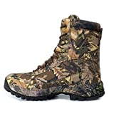 RatenKont Hombres Camuflaje Zapatos Senderismo al Aire Libre Botas Caza Trekking tácticas Nailon Impermeables Brown 11