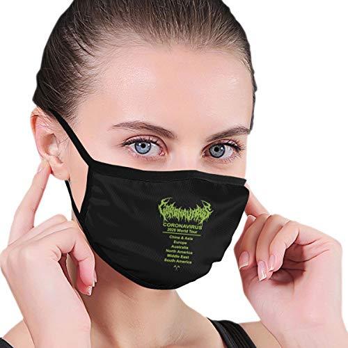 Cor-Onavirus World Tour Unisex Anti-Dust Face Mouth Mask Dust Mask for Camping Travel Black