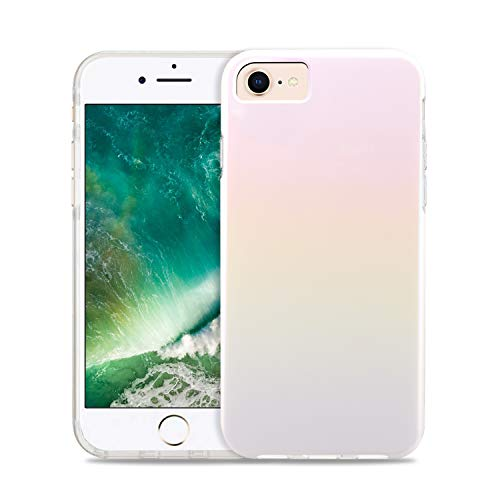CAOUME iPhone 11 Case - White Holo Glitter Cute Gradient Shiny - Protective Stylish Cases for Apple Phone11 (2019 Release) - Cover with Silicone Bumper Defender Camera and Screen