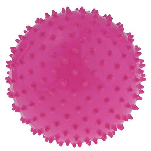 D DOLITY Pelota de masaje con púas de PVC de 9 pulgadas, color rosa 🔥
