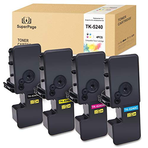 4 Superpage Kompatibel für Kyocera TK5240 TK-5240 Multipack Toner für Kyocera Ecosys M5526cdn ECOSYS M5526cdw ECOSYS P5026cdn ECOSYS P5026cdw(1Schwarz/1Cyan/1Magenta/1Gelb)