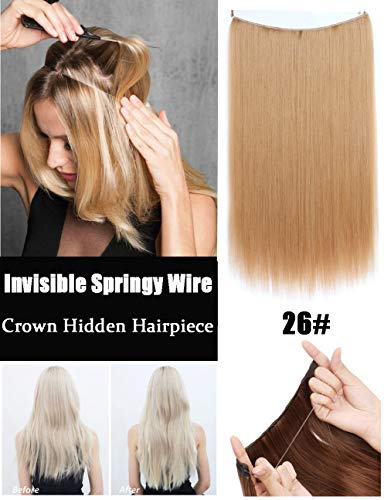 Haarverlängerung, unsichtbar, 56 cm, glatt, 80 g, kein Kleber, 1 Stück