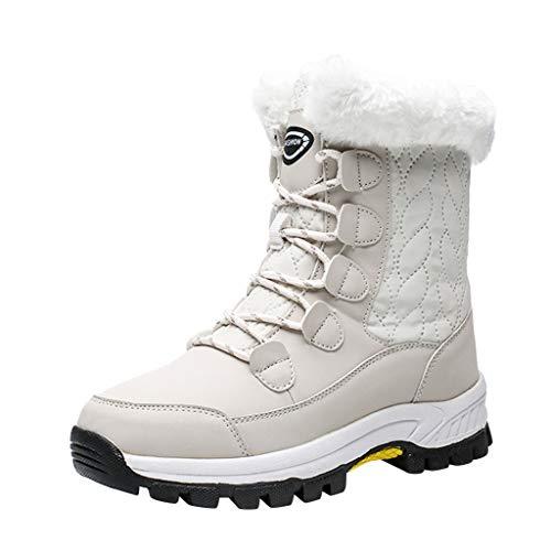 KERULA Sneaker Damen Schnürsenkel rutschfeste Wasserfeste Gefüttert Warm Schneeschuhe Sportschuhe Wanderschuhe Laufschuhe Turnschuhe Hallenschuhe Joggingschuhe Freizeitschuhe Schuhe