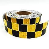 Cinta adhesiva reflectante 3M X 50 mm cinta de advertencia reflectante, cinta fluorescente de alta visibilidad, rollo de seguridad de transporte, cinta luminosa azul, blanco, negro y amarillo