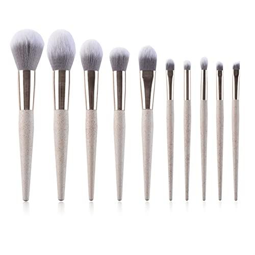 YSJJMES Brochas de Maquillaje 10 Piezas Pinceles Maquillaje Conjunto Ojo Sombra Fundación Polvo Eyeliner Eyelash Lab Lip Make Up Cepillo Cosmetic Beauty Tool Kit (Handle Color : 1)