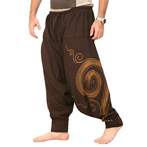 MEIHAOWEI Nuevo Hip Hop Retro Baggy Algodón Lino Harem Pant Hombres Tallas Grandes Pantalón Ancho Pantalón Nuevo Boho Pantalones Casuales Pantalones Cruzados