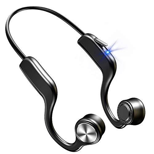 骨伝導イヤホン 【2021年第三世代 Bluetooth5.0】 Bluetooth イヤホン スポーツ仕様 ワイヤレスイヤホン 8時間連続再生 ブルートゥース イヤホン 自動ペアリング 超軽量 耳掛け式 両耳通話 CVC8.0ノイズキャンセリング 防水機