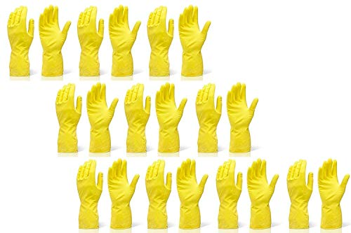 Reusable Rubber Cleaning Gloves Set   Hand Gloves Free Size for Washing,...