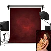 Kate 10x10フィート/3x3m レッド背景 ダークレッド背景 ポートレート 写真背景 テクスチャ 写真スタジオ小道具