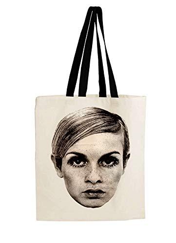 PUNK-NEVER-DIES Rock Band Celebrity Tote Bag Shopping Shoulder Handbag Eco トートバッグ ショッピング ハンドバッグ (Twiggy)