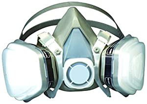 3M 3M-7193 Grey P95 Respirator, Half Face, Disposable, Spray Painting, Pesticides, Construction, 53P71, Large Size