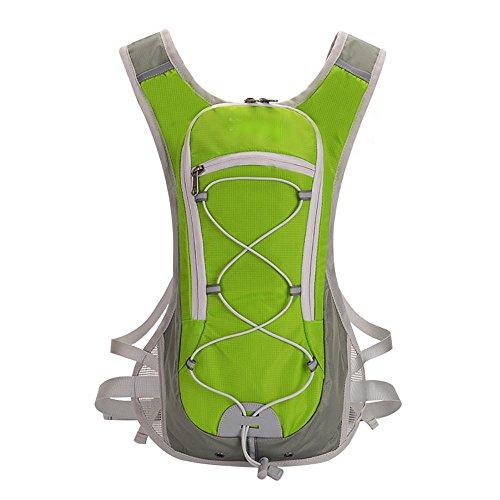 Miracol Mochila de hidratación con bolsa de agua de 2 litros - Paquete de aislamiento térmico que mantiene fresco el líquido , green