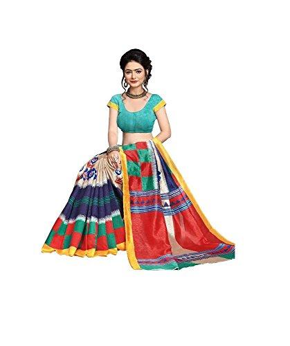 Indische Bollywood Hochzeit Saree indische ethnische Hochzeit Sari neue Kleid Damen lässig Tuch Geburtstag Ernte Top Mädchen Frauen schlicht traditionelle Party Wear Readymade Kostüm (multi)