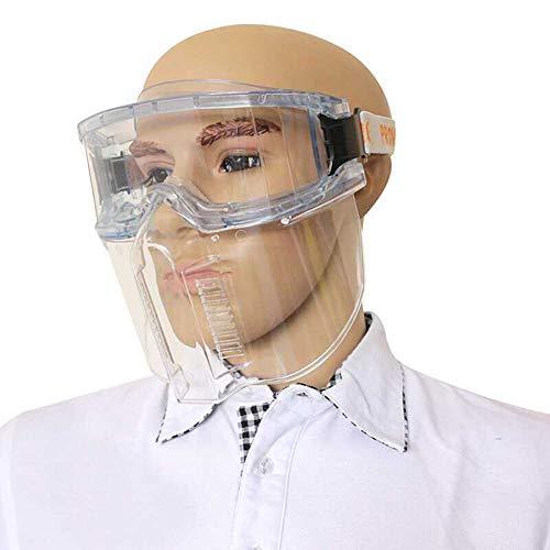 FYLY-Vollgesichtsschutz Visier,Anti-Fog Anti-Oil Splash Proof Brille Schützende Klare Gesichtsmaske Schutzvisier, Für Küche, Täglich, Laborgebrauch