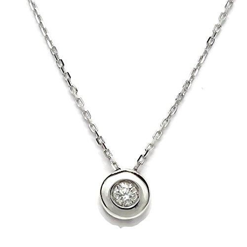 Never Say Never Collar con un Diamante de 0.10cts y Oro Blanco de 18ktes.40cm