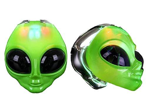 HOWBOUTDIS Green Alien MASK-Lights UP & Lifts UP