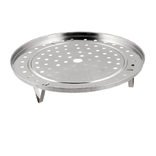uxcell Cooking Pot Steaming Stand Canning Racks Stainless Steel 22cm Diameter Steamer Round Insert Stock Tray w Stand