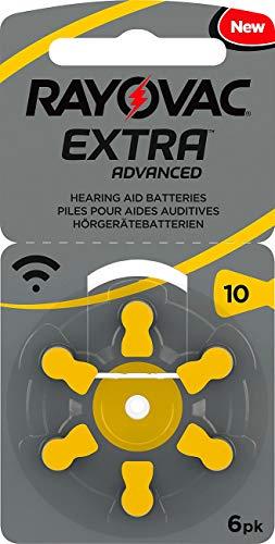 Rayovac Batterie per apparecchi acustici - Rayovac 10 Extra Advanced 1,45 V 105 mAh - 1 confezione da 6 pezzi
