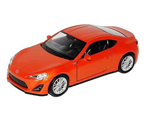 Welly Toyota GT86 Coupe Orange Ab 2012 ca 1/43 1/36-1/46 Modell Auto mit individiuellem Wunschkennzeichen