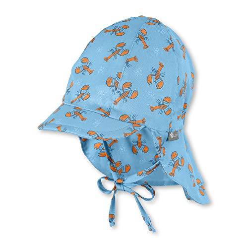 Sterntaler Baby-Jungen Schirmmütze Bindebändern, Nackenschutz und Hummer-Motiv Mütze, Blau (Himmel 325), (Herstellergröße: 45)