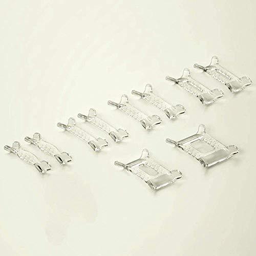 Uteruik Invisible Ring Sizer Transparent Memory a Not Metal, 10pcs (H-#19)