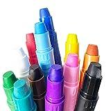 12 colores pintura facial para niños, maquillaje de Halloween y fiesta, varillas de pintura facial y corporal, pintura facial lavable no tóxica, crayones de pintura facial retorcidos a base de agua