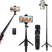 Ottertooth Selfie Stick Tripod, 102 cm Portable Extendable All in One Selfie Stick with Wireless Remote, Compatible with...