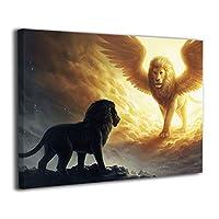 Skydoor J パネル ポスターフレーム 神様 ライオン インテリア アートフレーム 額 モダン 壁掛けポスタ アート 壁アート 壁掛け絵画 装飾画 かべ飾り 30×40