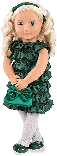 Our Generation Doll by Battat- Audrey-Ann 18 Posable Deluxe Holiday Doll with Book & Accessories- for Ages 3 Years & Up