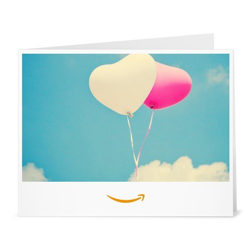 Amazon.de Gutschein zum Drucken (Herzballons)
